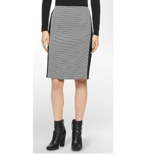 Calvin Klein Chevron Panel Pencil Skirt